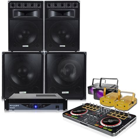 big disco light big speakers pa lifier pro dj mixer disco lights