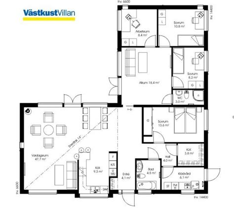 2 schlafzimmer 2 bath apartment grundrisse schwedenhaus eingeschossig skandihaus 148 grundriss