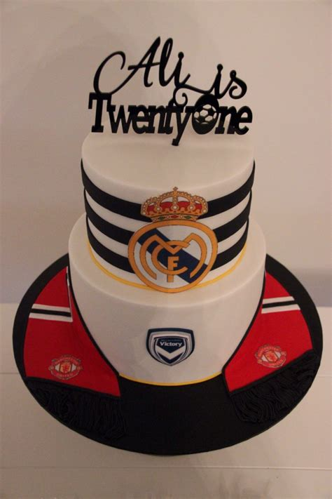 themed birthday cakes melbourne soccer themed 21st birthday cake real madrid manchester