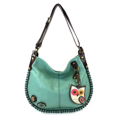 Hobo Croco With Owl Charm Set teal owl ii charming hobo