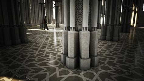 mosque with islamic marble flooring