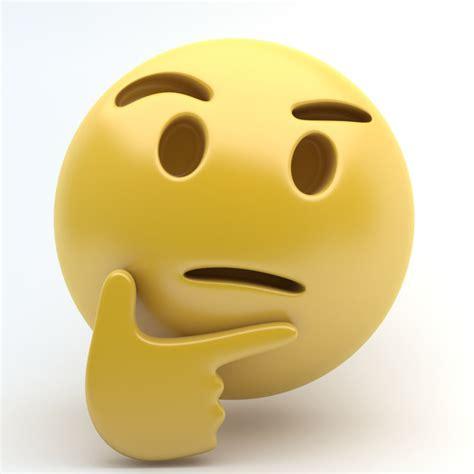 emoji thinking 3d emoji thinking model