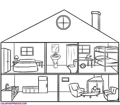 free room of the house coloring pages