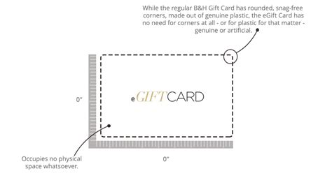 Gift Card Dimensions - hands on review the b h electronic gift card explora