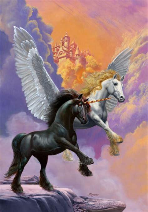 unicorn cloud pegasus and unicorn in cloud city cornify