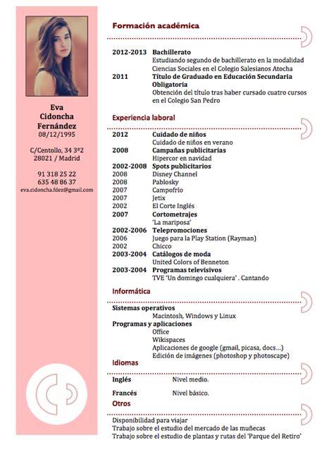 Modelo De Curriculum Vitae Para Rellenar En Ingles Curriculums Originales Maestra Buscar Con Curriculums Creativos