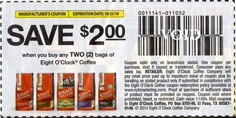 printable eight o clock coffee coupons eight o clock coffee bags only 3 98 at walmart