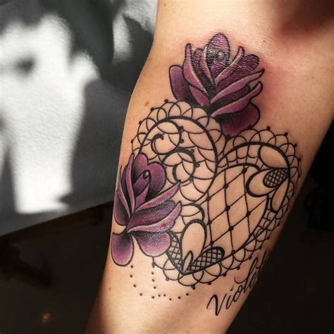 tattoo designs roses and hearts lace pinteres
