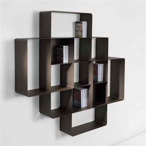 piccole librerie in legno libreria da muro componibile mondrian 2a portata 140 kg