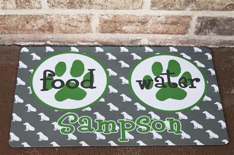 Personalized Bowl Mat by Personalized Or Cat Bowl Mat Monogram Your Pet Or