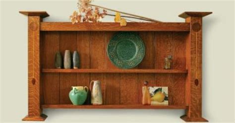 craftsman furniture plans arts and crafts wall shelf plans mission furniture plans