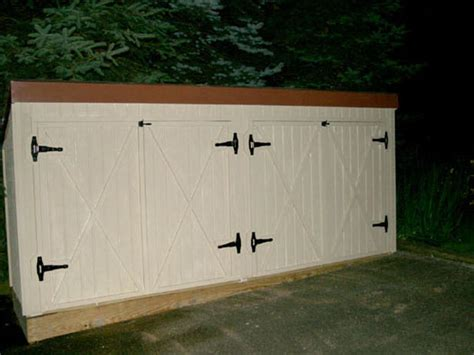 Horizontal Storage Shed Plans by Easy To Horizontal Refuse Storage Shed Plans Dame Outdoor