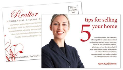 Real Estate Agent Postcard Templates