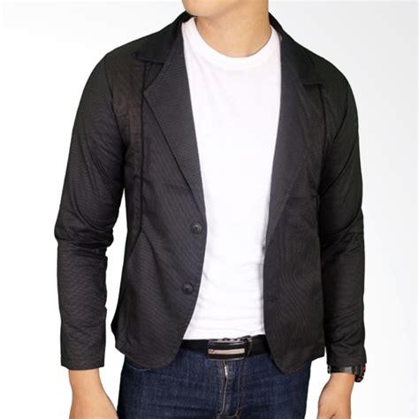 Prodak Baru Blazer Black New Jas Cowok Pria Slimfit Jaket jual gudang fashion blz 758 katun jas blazer pria black harga kualitas terjamin