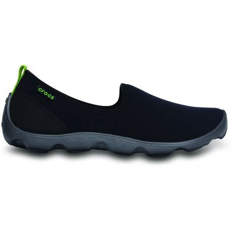 Crocs Duet Skimmer For Branded crocs womens duet busy day skimmer black graphite comfort footbed with soft stretchy shell