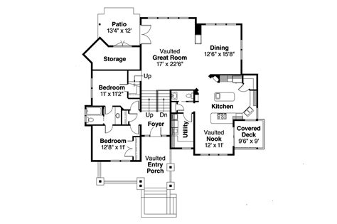 1st floor house plan craftsman house plans kelseyville 30 476 associated designs