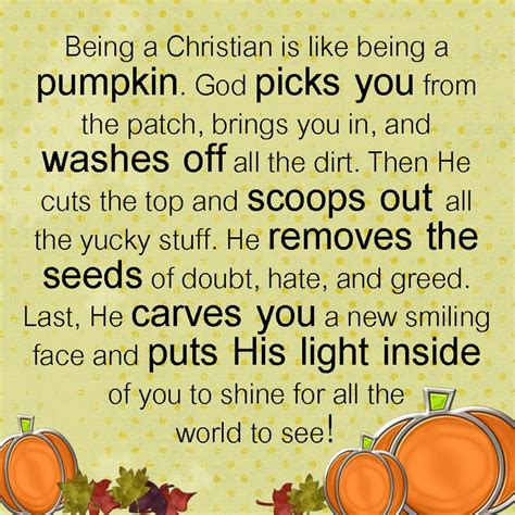 pumpkin poems how is being a christian like a pumpkin poem