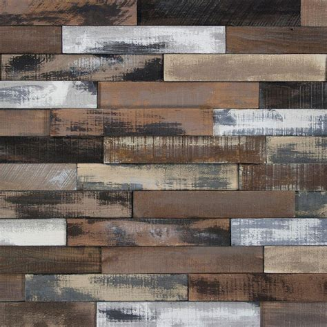 nuvelle deco planks weathered brown 1 2 in thick x 2 in