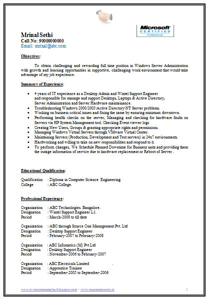 Resume For Experienced Software Engineer In India 10000 Cv And Resume Sles With Free Free Software Engineer Resume Sle