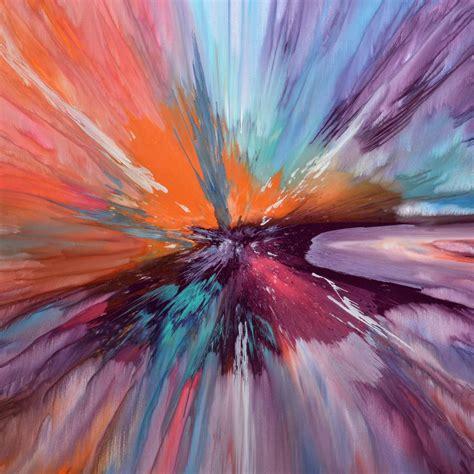 large square painting  multi colours original large