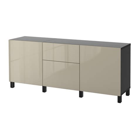 besta hochglanz beige best 197 storage combination with drawers black brown