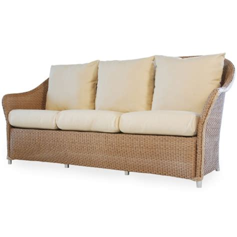 ottoman couch vire weekend lloyd flanders wicker furniture weekend retreat collection