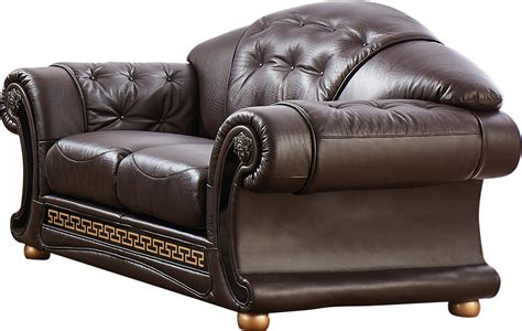 Versace Leather Sofa Versace Brown Sofa Versace Esf Furniture Leather Sofas At