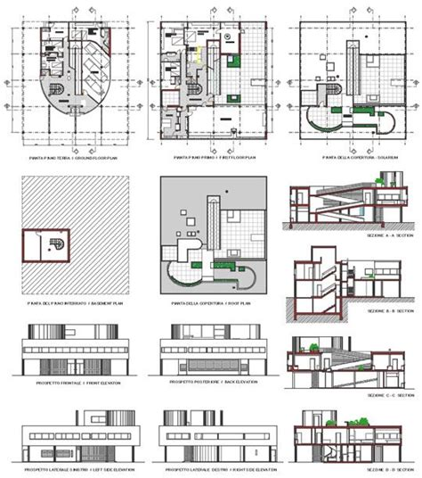 villa savoye floor plan dwg 17 best ideas about villa savoye plan on pinterest villa
