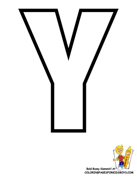 Printing Letter Y | classic alphabet printables learning letters free