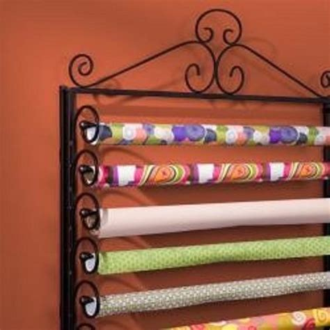 Craft Paper Storage Rack - black gift wrapping paper craft station storage rack