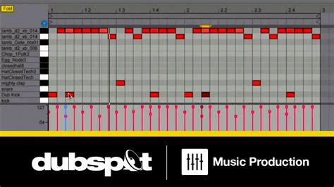 make drum pattern ableton dubstep drums beats in ableton live 8 dubspot youtube