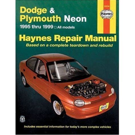 auto repair manual free download 1996 plymouth neon auto manual dodge plymouth neon haynes repair manual 1995 1999 hay30034