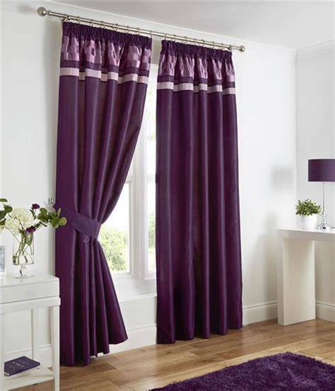 plum curtains pencil pleat lined curtains plum black or charcoal grey