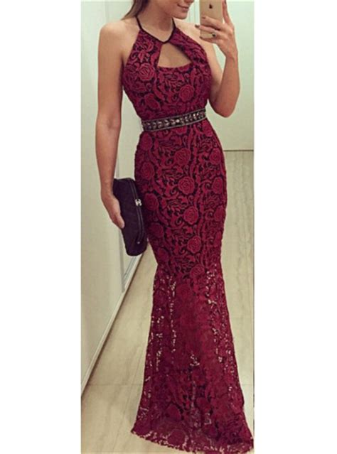 Lace Halter Style Dress 21902 lace maxi dress backless sleeveless