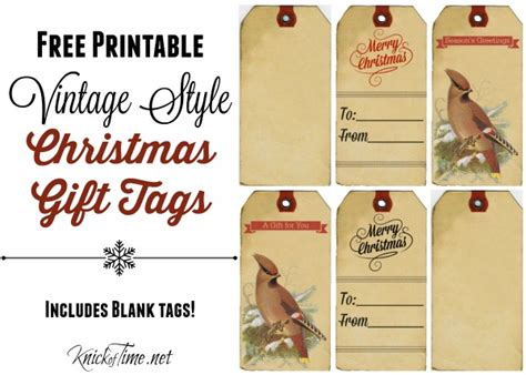 printable old fashioned christmas gift tags vintage christmas gift tags labels and stickers knick