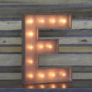 Home Decor Plus edison marquee letter quot e quot town amp country event rentals