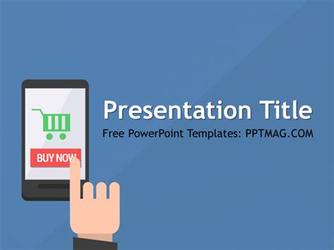 power point mobile free mobile shopping powerpoint template pptmag