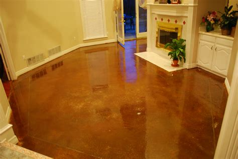 How To Stain Interior Concrete Floors by Interior Floor Stain Cedar Hill Tx Esr Decorative