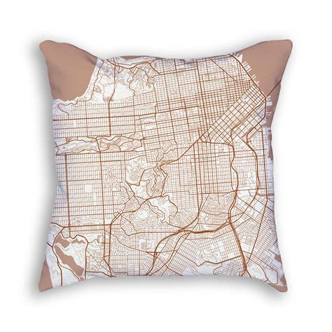 pillow san francisco san francisco california throw pillow city map decor