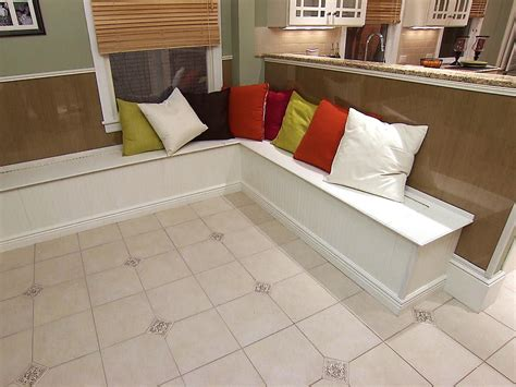 built in bench seating for kitchen plans how to build banquette seating how tos diy