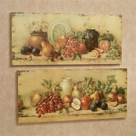 bountiful setting fruit wall plaque set