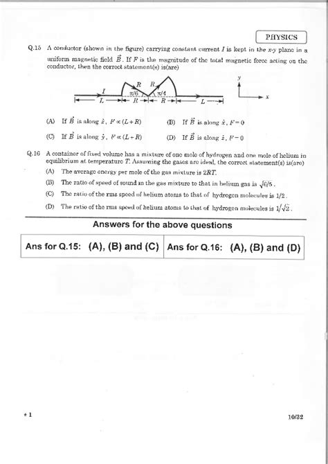 paper pattern jee advanced 2015 jee advance 2015 paper 1 answer key official with