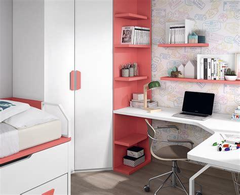 etagere murale chambre ado chambre avec lit bureau armoire et 233 tag 232 res meubles ros