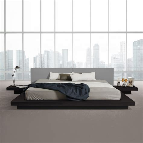 low profile platform beds modrest opal modern low profile platform bed black