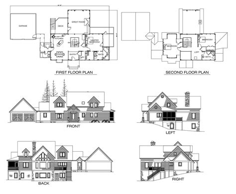 lake lure timber frame floor plan by timberpeg