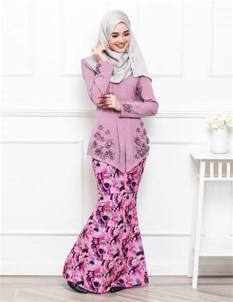 Baju Kurung Moden Untuk Konvokesyen | baju kurung moden petrina dusty purple lovelysuri com