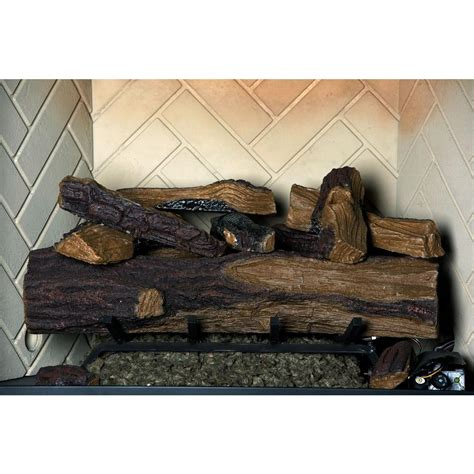 fireplace log set emberglow 24 in appalachian oak vented gas