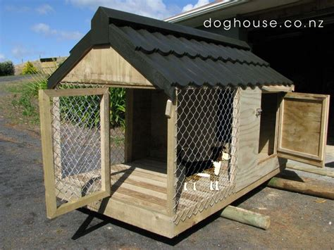 outside dog houses large dog house plans free fully enclosed dog kennel and run quality outdoor dog