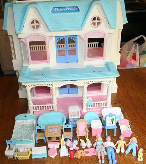 fisherprice doll house details about vintage retired fisher price toy dream dollhouse loving family furniture