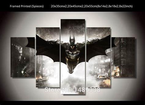 batman home decor framed printed batman movie poster 5 piece painting wall